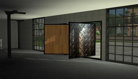 Sims 4 Designs: Textured Pivoting Doors • Sims 4 Downloads