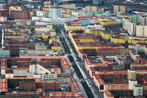 June in Norilsk – one of the largest cities within the
