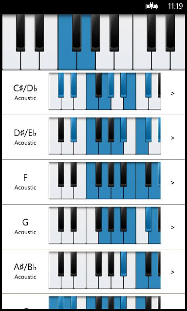 Piano Companion: chords, scales, circle of fifths, chord