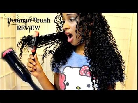 DENMAN Brush On WET THICK CURLY HAIR REVIEW - YouTube