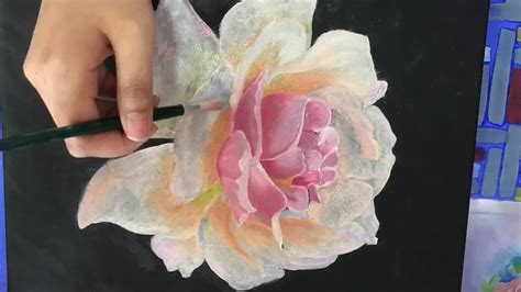 Rose oil painting - YouTube