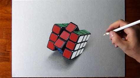 Drawing my Rubik's Cube - time lapse - YouTube