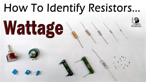 How to identify the resistor wattage (Both fixed