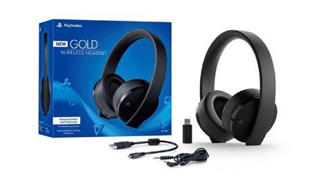 Sony introduces New Gold Wireless Headset for PS4 and PS