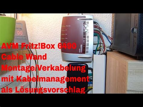 AVM Fritz!Box 6490 Cable Wand Montage/Verkabelung mit
