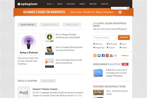 Page Links To WordPress theme, websites examples using