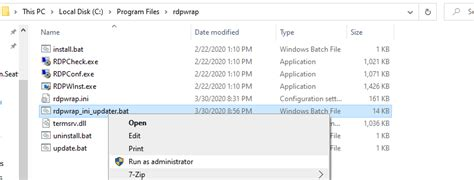 rdp wrapper not working windows 10 home 1909 build 18363