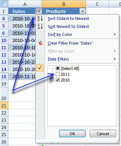 Extract unique distinct values based on a filtered Excel