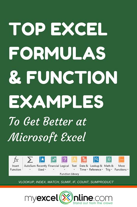 The Ultimate Excel Formulas & Function Examples | Free