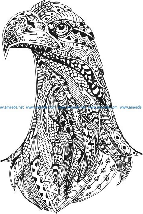 Eagle head file cdr and dxf free vector download for print
