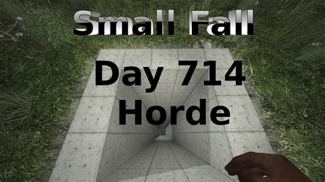 7 Days to Die Small Free Fall Bunker Day 714 Horde - YouTube