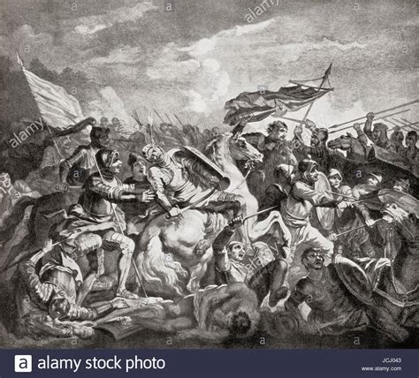 The Battle of Hastings, 1066, fought between the Norman
