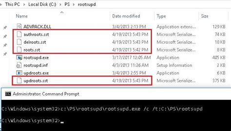 Updating List of Trusted Root Certificates in Windows 10/8