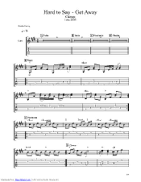 Hard To Say Im Sorry Get Away guitar pro tab by Chicago