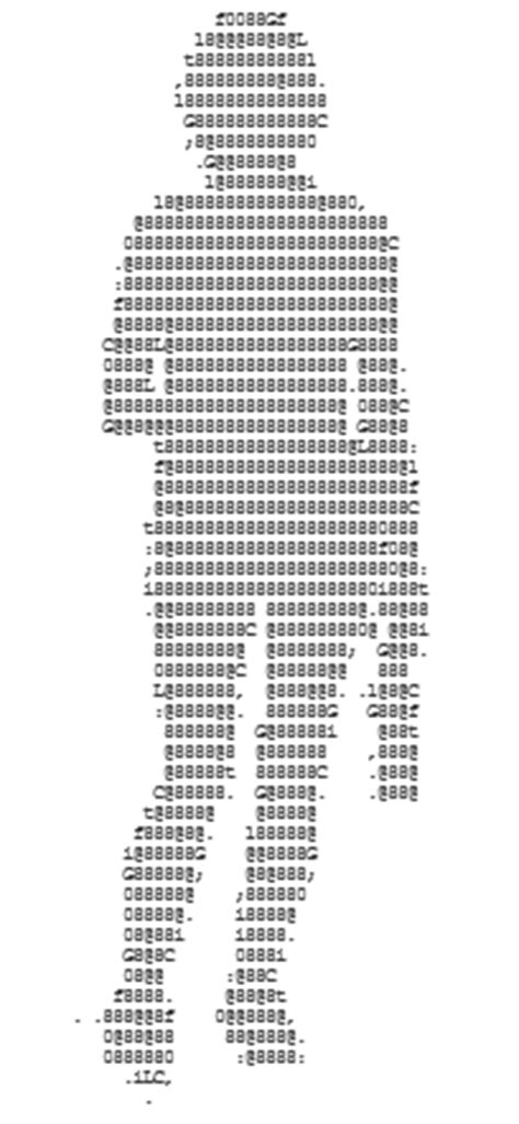 ASCII Art Girls - Pictures of Women and Ladies made of Text