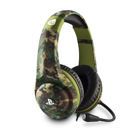 Camouflage PS4 Gaming Headset   4Gamers Camo PS4 Headsets