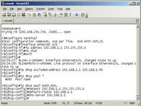 Configuring a DHCP Server on a Cisco Router - YouTube